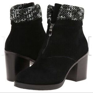 Chinese Laundry Black Suede Marvel Boot